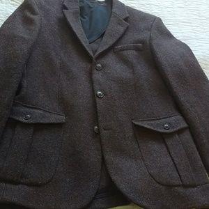 Handwoven Wool Slim Fit Harris Tweed Wool Jacket